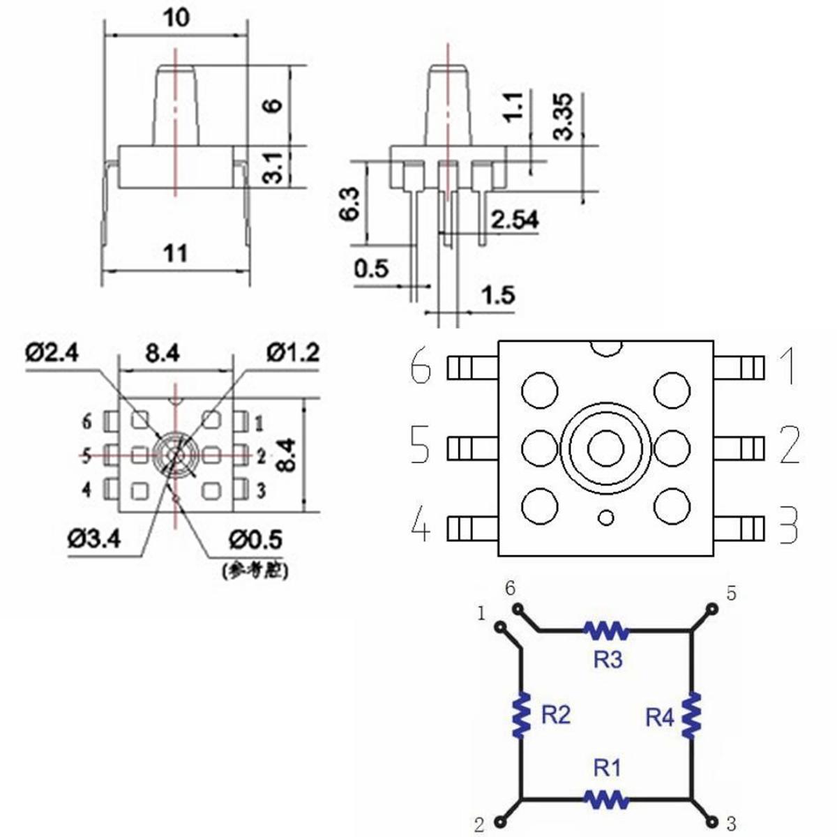 MPS20N0040D-D Sphygmomanometer Pressure Sensor 0-40kPa DIP