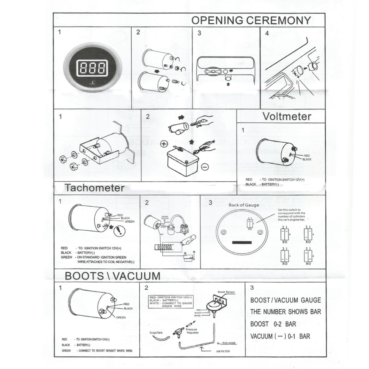 hight resolution of auto gauge tach wiring solidfonts vdo tach wiring diagram nilza net
