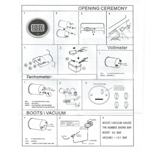 small resolution of auto gauge tach wiring solidfonts vdo tach wiring diagram nilza net