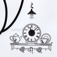 Modern Style DIY Clock Wall Sticker Wall Clock Decal Art ...