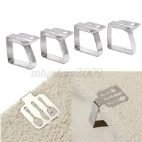 4Pcs Leaf Fork Pattern Stainless Steel Tablecloth Clip ...