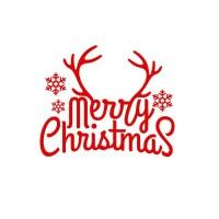 Merry Christmas Tree Wall Sticker Reindeer Snowflake Car ...