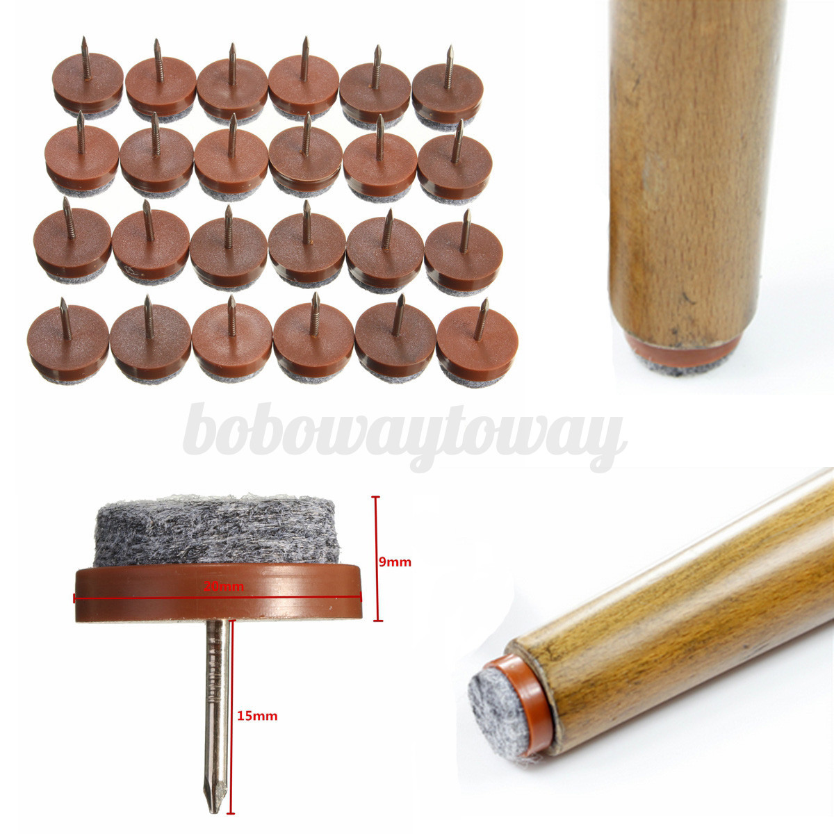 chair leg glides for wood floors camping chairs costco 24pcs furniture table floor felt pad skid glide