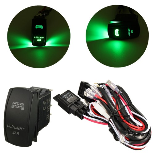 small resolution of 12v wiring harness green led light bar laser rocker switch on off 12v wiring harness green led light bar laser rocker switch on off