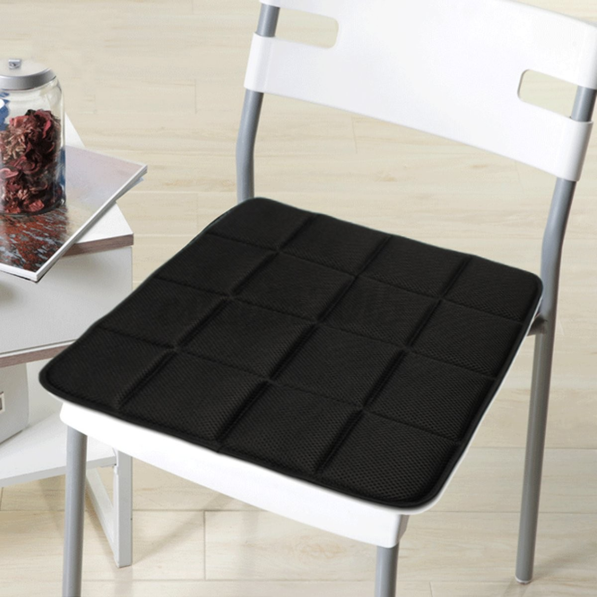 desk chair seat covers single glider outdoor bamboo charcoal breathable cushion cover pad mat for