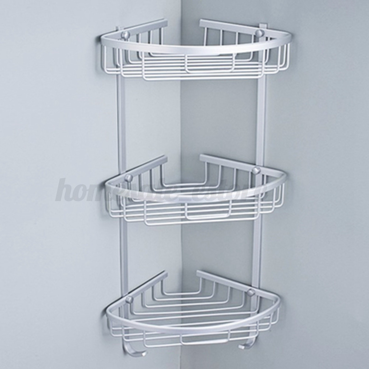 Triangular Shower Shelf Bathroom Kitchen Corner Rack Shelf Storage Basket Hanger  eBay