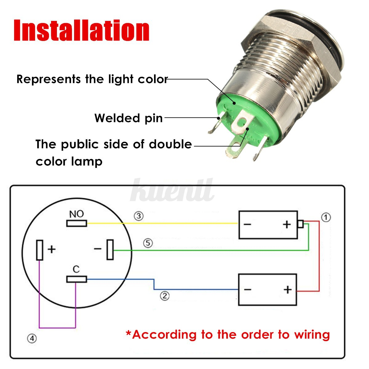6 pin switch wiring diagram blank ear to label 9 5mm 12v led power momentary push button for car