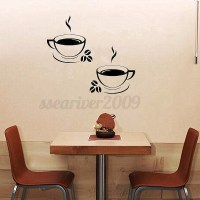 Coffee Cups Kitchen Wall Stickers Art Vinyl Decal ...