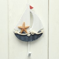Wooden Chic Nautical Decorative Hook Coat Hat Clothes ...