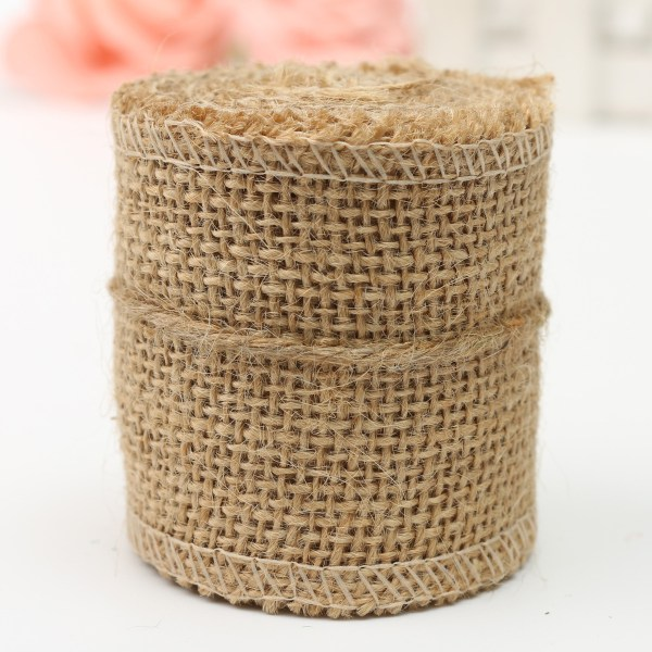 Natural Jute Hessian Burlap Ribbon Rustic Weddings Belt