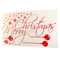 Christmas Removable Window Snow Stickers Art Decal Wall ...