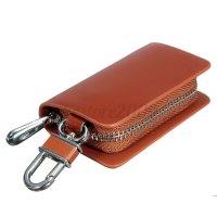 Leather Car Key Holder KeyChain Wallet Case Pouch Purse ...
