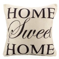 Simple Words Throw Pillow Case Cover Zippered Bed Sofa