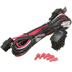 5 Pin Relay Wiring Diagram Light Bar For Thermostat 40a 300w Fuse Harness Led On Off