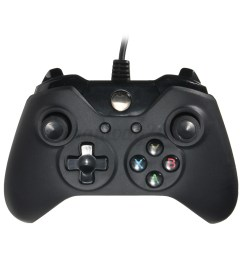 xbox one controller usb microsoft black wired usb controller video games handle [ 1200 x 1200 Pixel ]