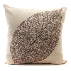 How To Clean Linen Cotton Sofa Leather Loveseat Forest Leaf Throw Pillow Case Back