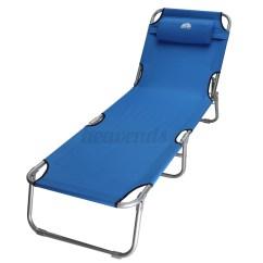 Fold Away Single Chair Bed Folding Leg Caps 7/8 Beach Lounger Mattress Compact Metal