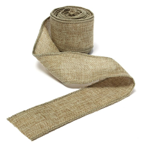5m Natural Jute Hessian Burlap Ribbon Rustic Wedding Belt
