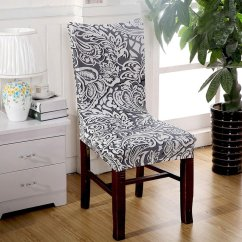 Chair Seat Covers With Elastic Kid Table And Removable Stretch Slipcovers Short Dining Room
