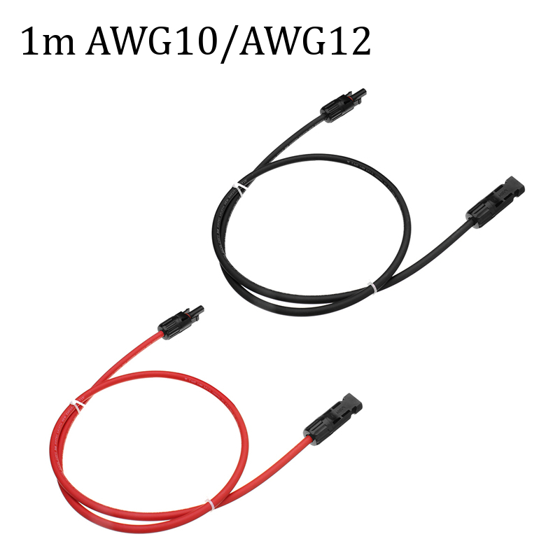 2x 10AWG/12AWG Solar Panel Extension Cord MC4 Connection