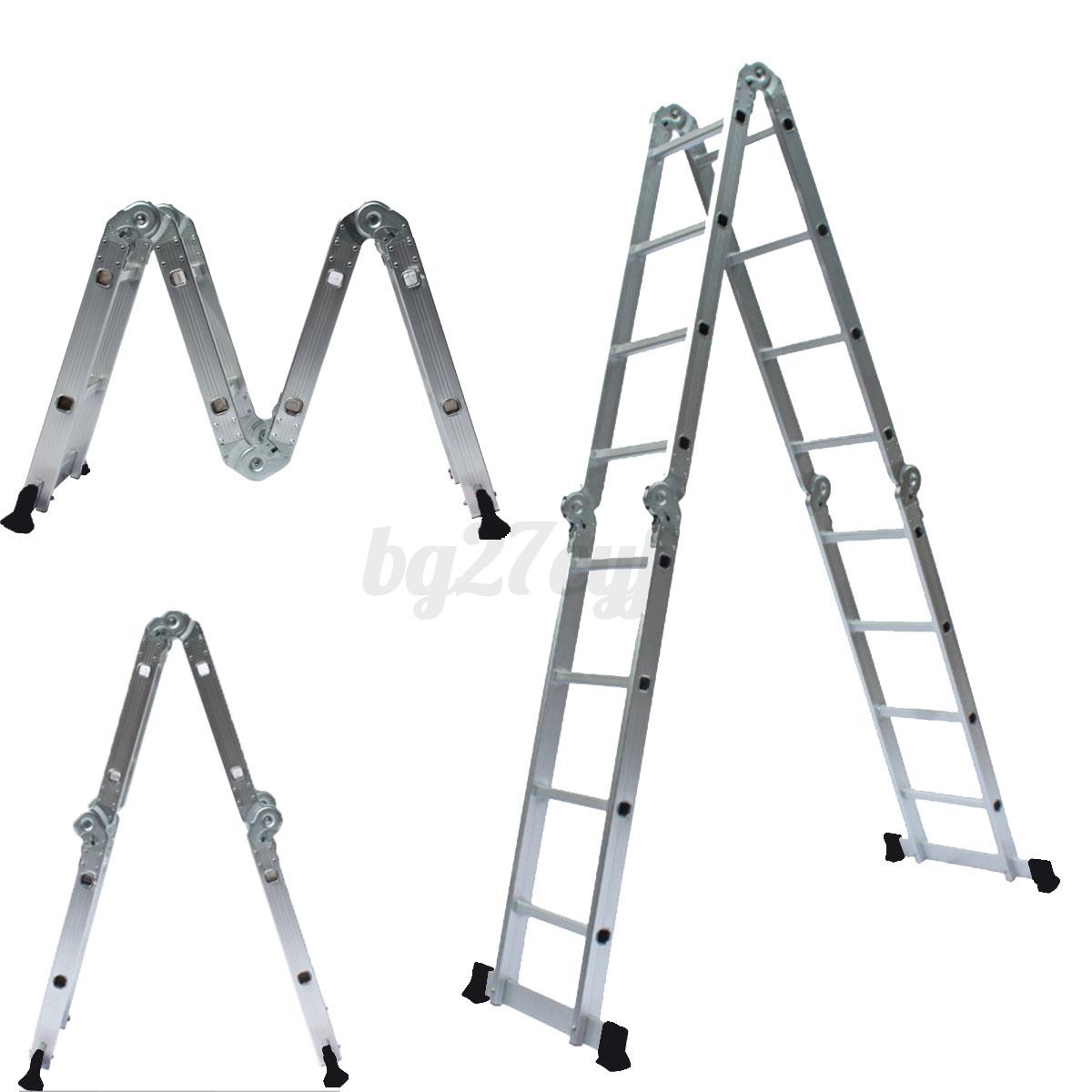 30cm Multi Purpose Aluminium Folding Extension Ladder Step