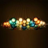 Modern Colorful Glass Bubbles Pendant Light Chandelier ...