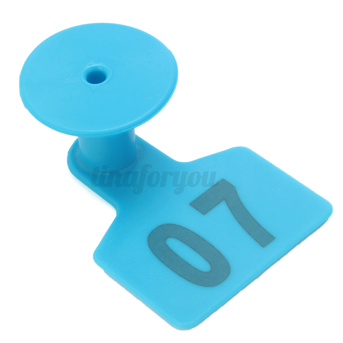 01 100 Blue Number Plastic Livestock Ear Tags Animal Tag