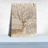 Unframed Canvas Print Deer Design Modern Home Decor Wall ...