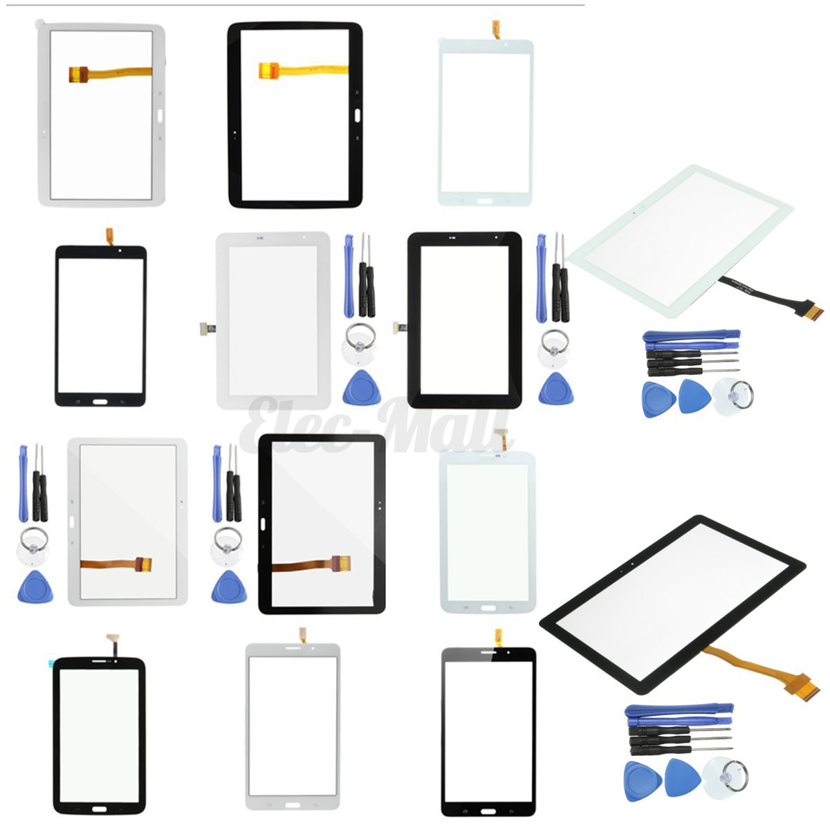 16 Type Touch Screen Digitizer Glass Lens Replacement Part