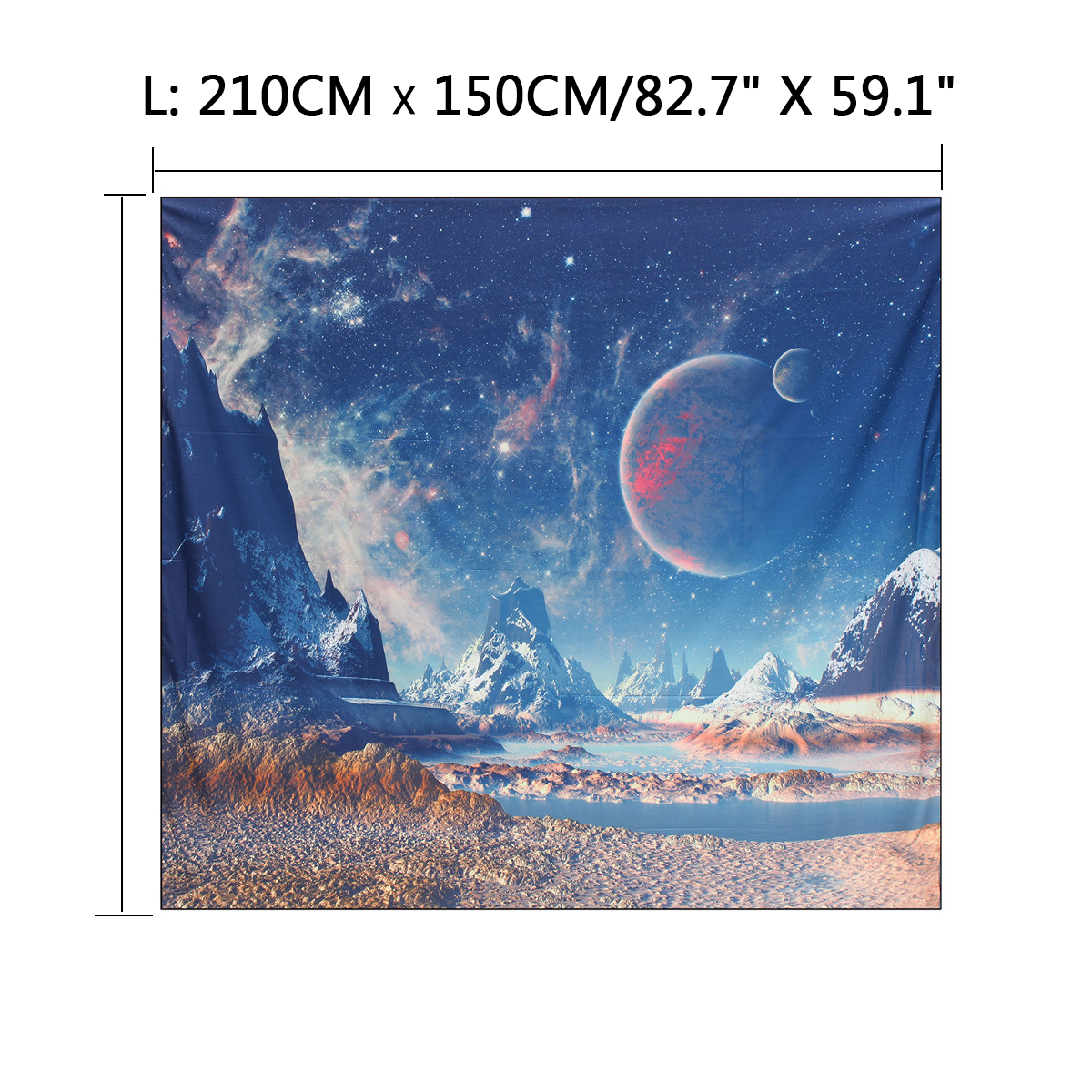 Us Galaxy Planet Tapestry Wall Hanging Tapestry