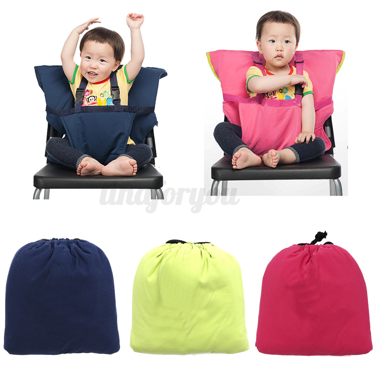 Portable Baby Infant Kids Seat High Chair Harness Seat