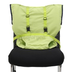 Portable Baby Chair Rounded Corner Cushions Infant Kids Seat High Harness