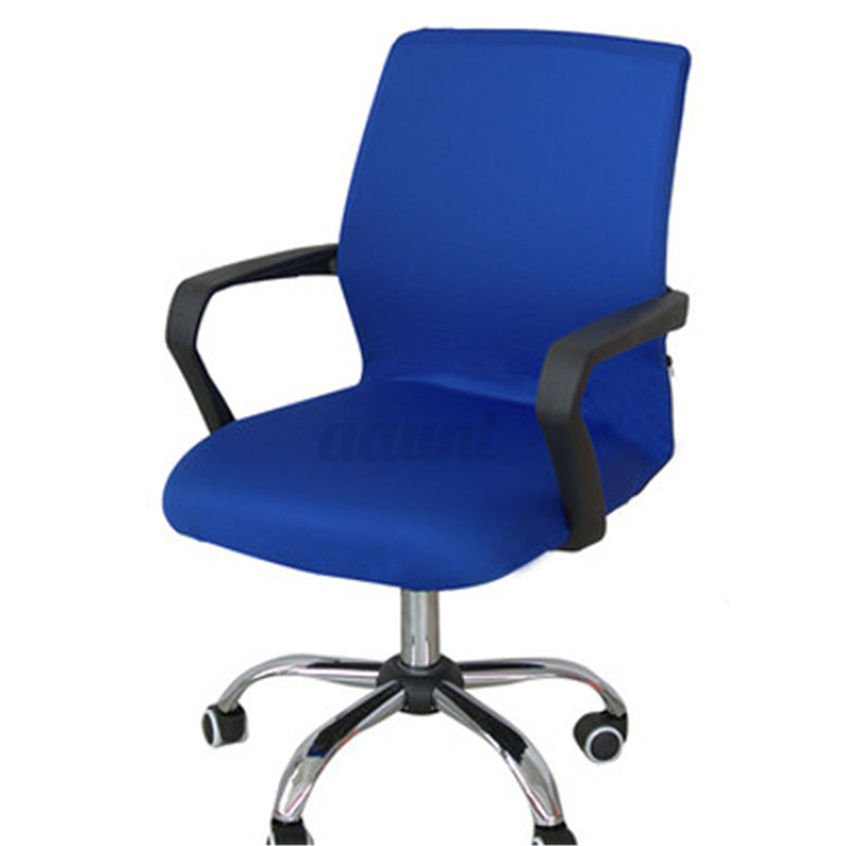 purple dining chair covers for back pain relief india swivel computer cover stretch office armchair