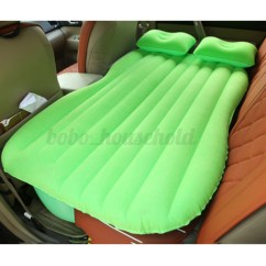 Blow Up Beach Chair Wheel Car Air Bed Inflatable Mattress Back Seat Cushion Two