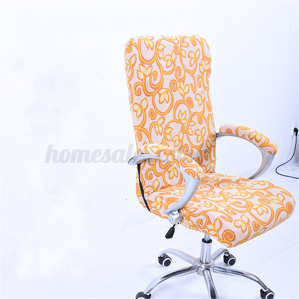 swivel chair covers portable high 7 color elastic office cover slipcover