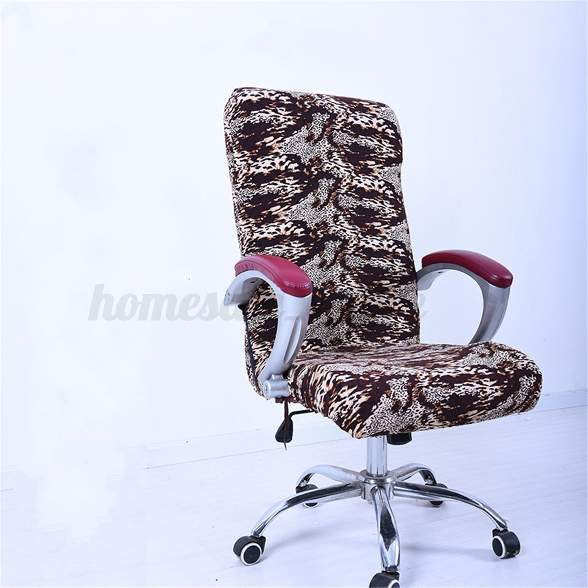 desk chair cover amazon computer chairs 7 color elastic office swivel slipcover