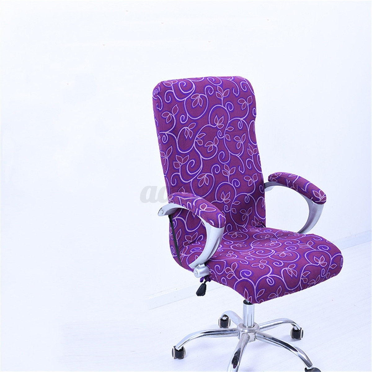 black chair covers ebay ball for back pain spandex elastic office computer swivel cover