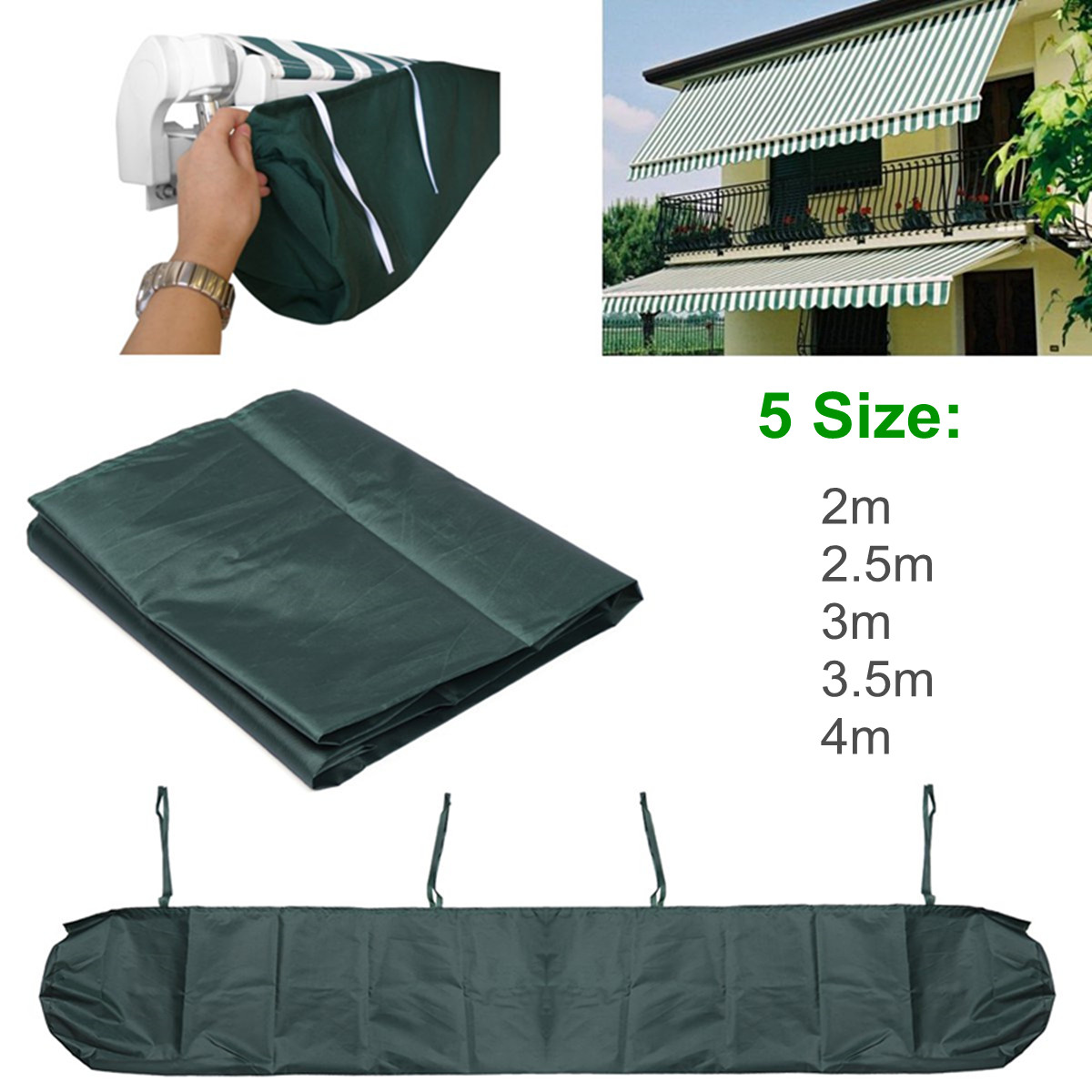 5 Size Patio Awning Winter Storage Bag Rain Weather Cover