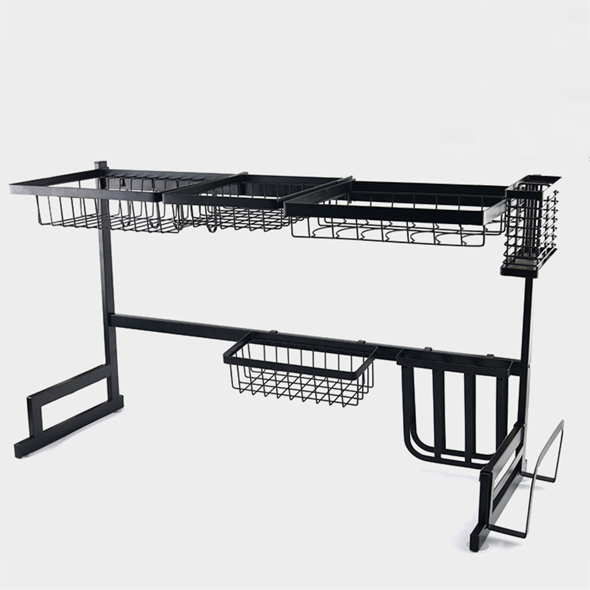 US 65/85CM Over Sink Shelf Metal Home Kitchen Rack Dish
