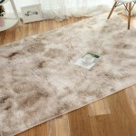 40x40 Solid Plush Shag Area Rug Soft Fluffy Floor Bedroom