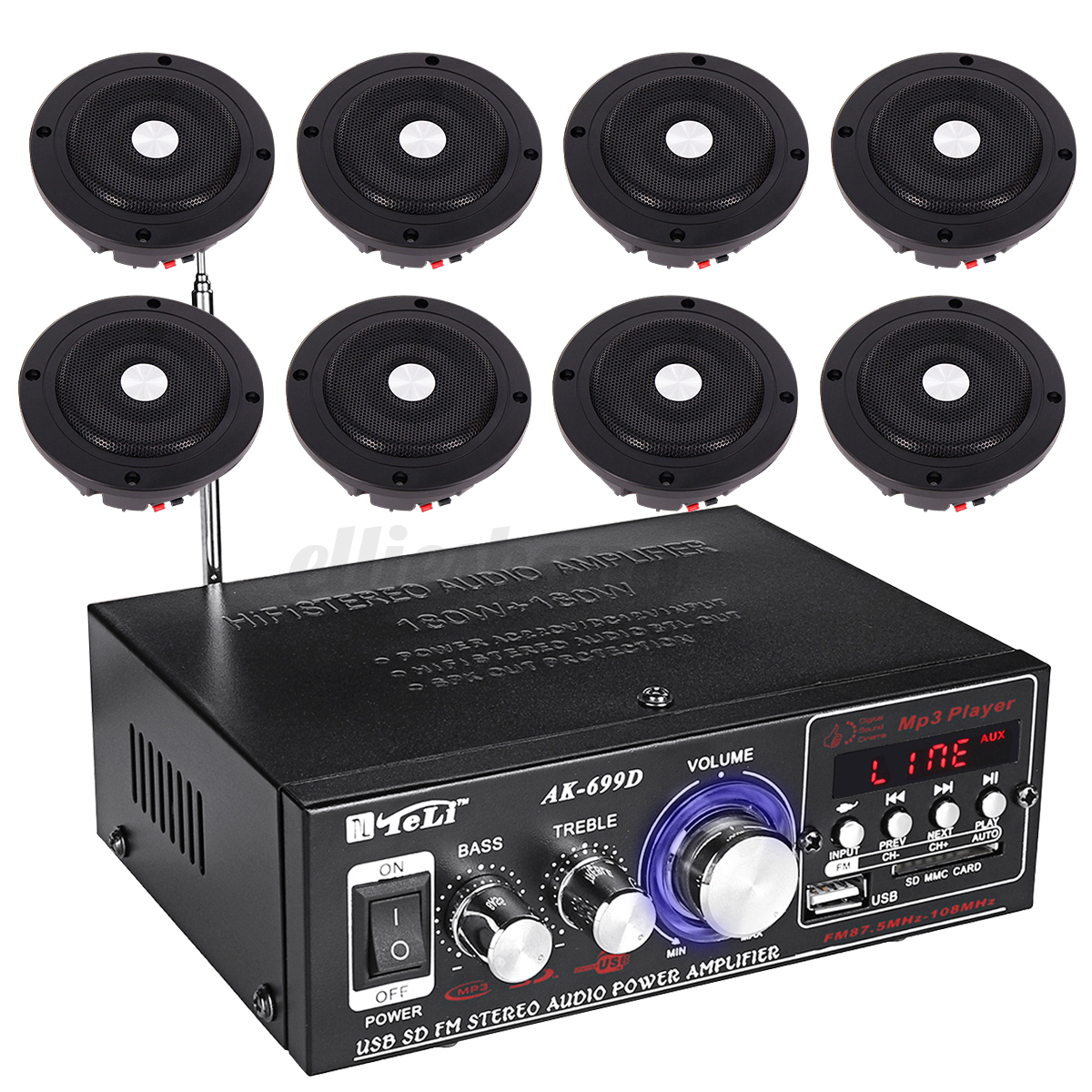 hight resolution of 220v home cafe restaurant car audio stereo amplifier