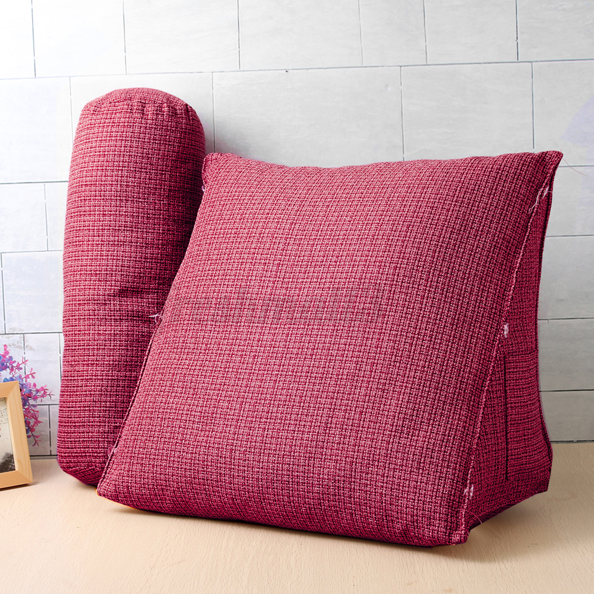 back pillow for office chair high converts to table and big adjustable wedge cushion sofa bed