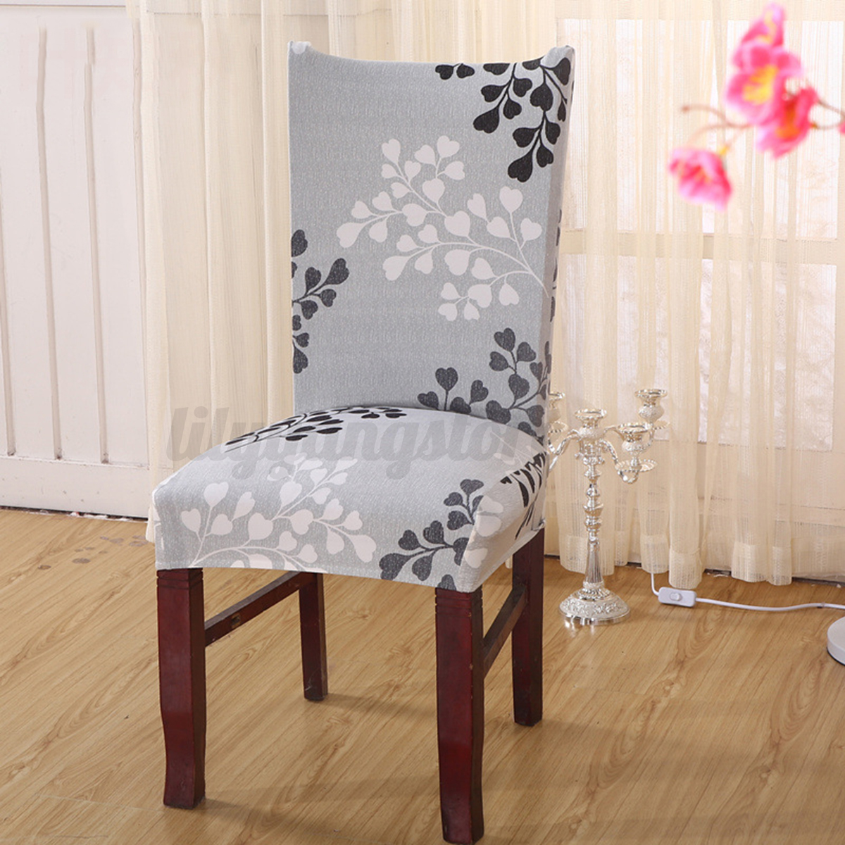 elastic chair covers for weddings black tufted dining chairs stretch cover seat spandex washable