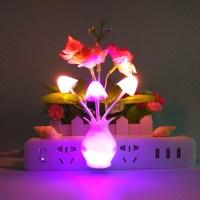 4 Pack LED Night light Color Changing Lamp Mushroom Flower ...