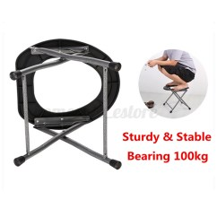 Fishing Chair Tent Side Chairs For Dining Portable Folding Toilet Rv Travel Camping Boat