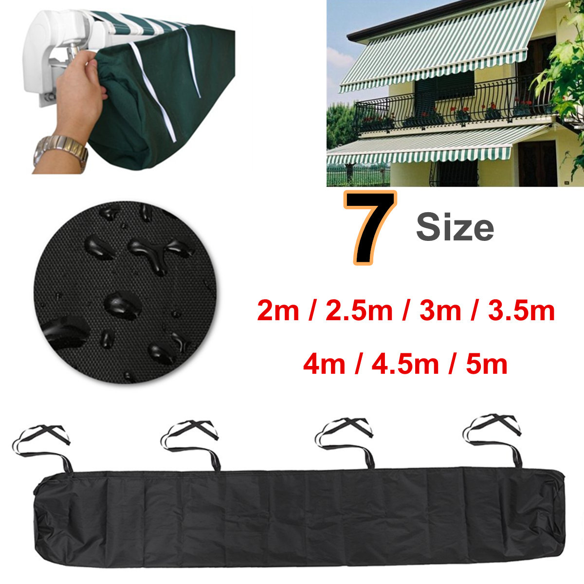7 Size Patio Awning Winter Storage Bag Rain Weather Cover