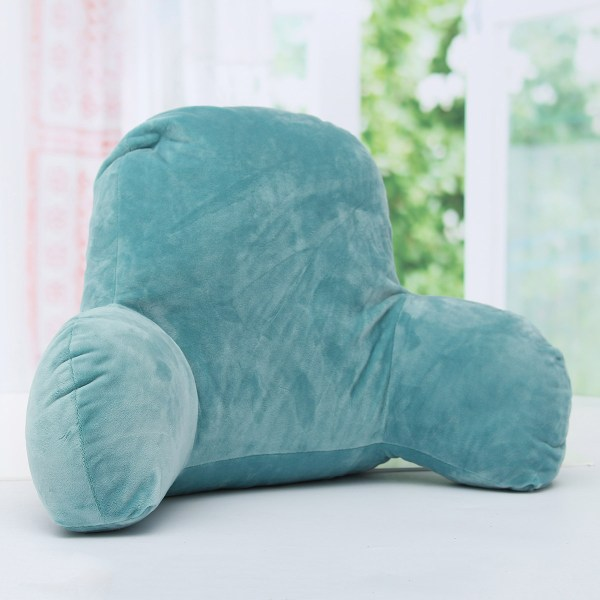 Lounger Bed Rest Pillow Backrest Arm Support Relax Plush Cushion Reading