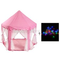 Girl Pink Princess Castle Cute Playhouse Kid Play Tent ...