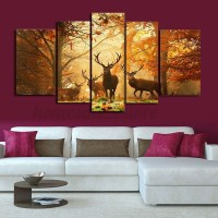 HD Canvas Print Modern Scenery Animal Wall Art Oil ...