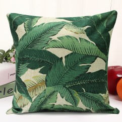 Tropical Sofa Throw Cover Build Your Own Sectional Floral Plant Leaf Cushion Covers Pillow